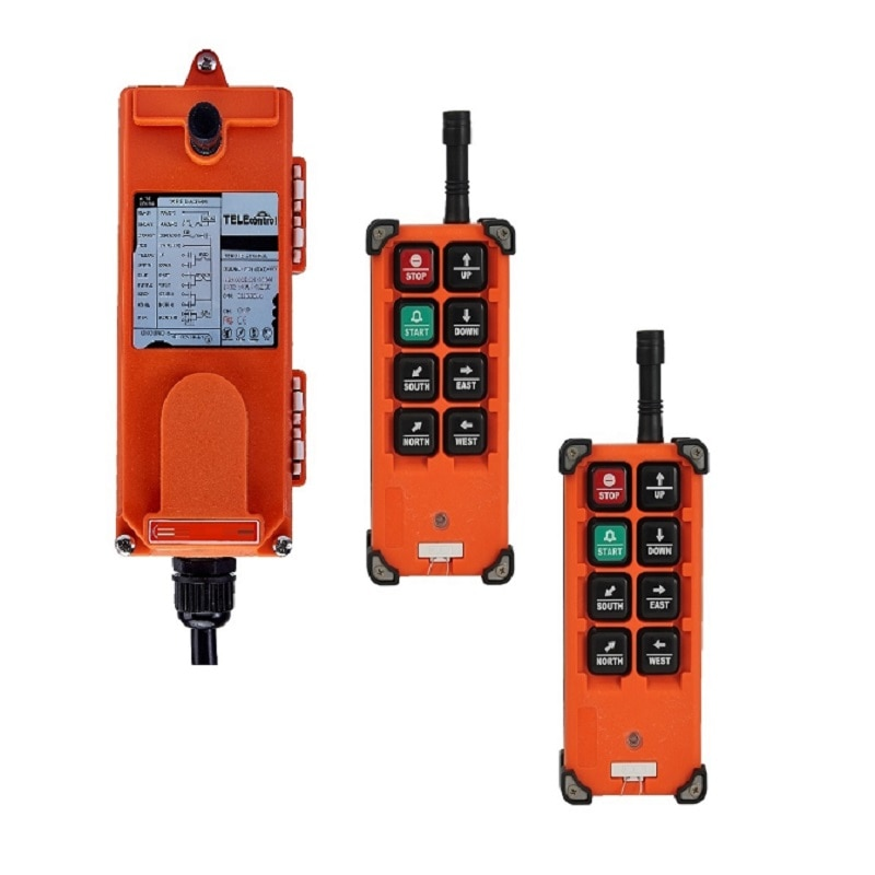 2 transmitter 1 Receiver FF21-E1B 6 channels 1 speed hoist crane wireless industrial remote controller