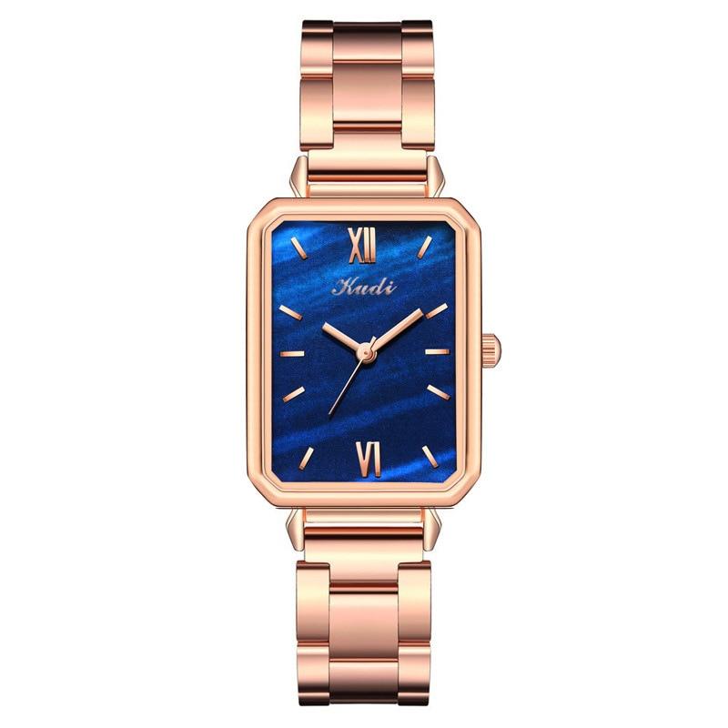 YUNAO Fashion Net Red Dark Green Watch Watch Ladies British Casual Steel Band Watch Light Luxury Fashion Quartz Watch 2021 New enlarge