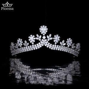Hair Accessories HighEnd Luxury Bride Wedding Zircon Crown Super Flash Wedding Headdress Evening Dress Wedding Dress Accessories