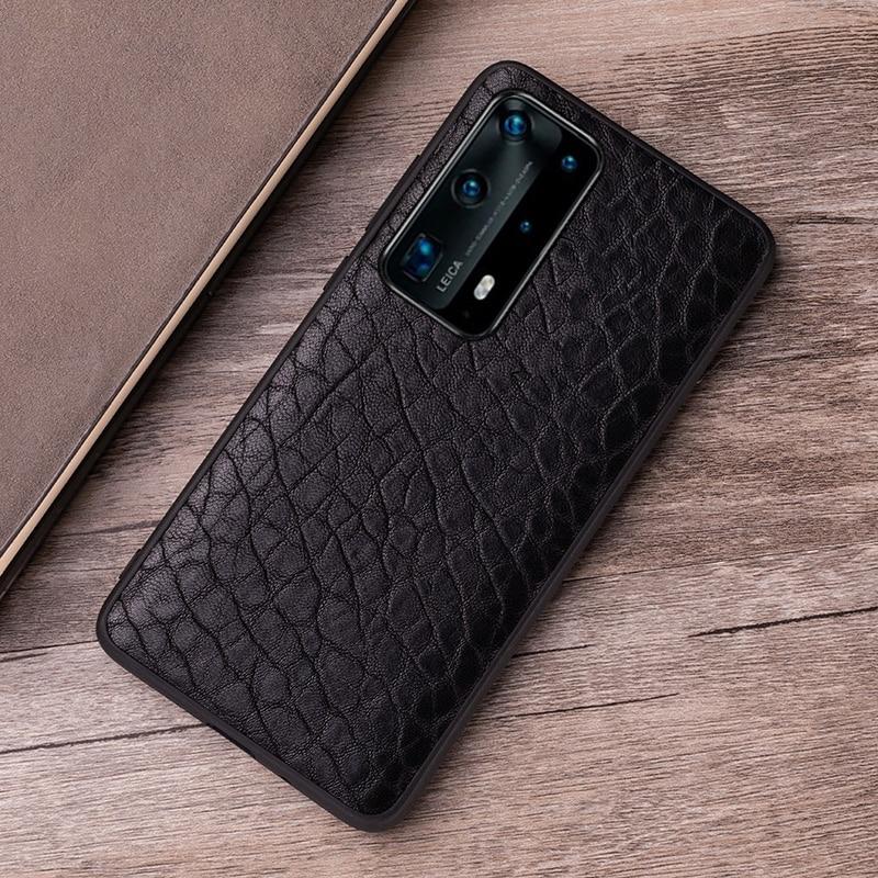 جراب جلد أصلي لهاتف Huawei ، جراب خلفي من جلد الغنم الطبيعي لهاتف P20 ، P30 ، P40 ، Honor 9X ، Mate 10 ، 20 ، 30 Lite ، 40 Pro Plus ، Nova 5T