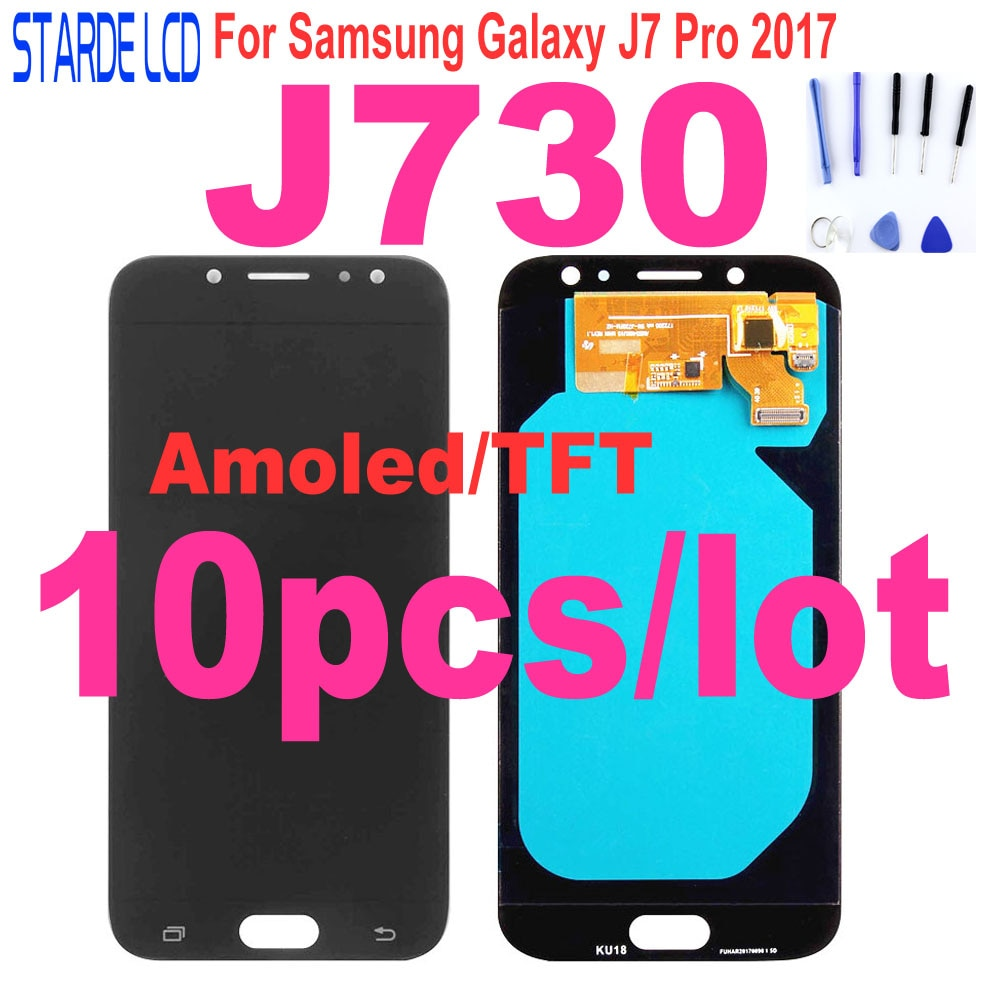 10 Pcs J730 LCD For Samsung Galaxy J7 Pro LCD 2017 J730 SM-J730F J730FM/DS J730F LCD Display Touch Screen Digitizer Assembly