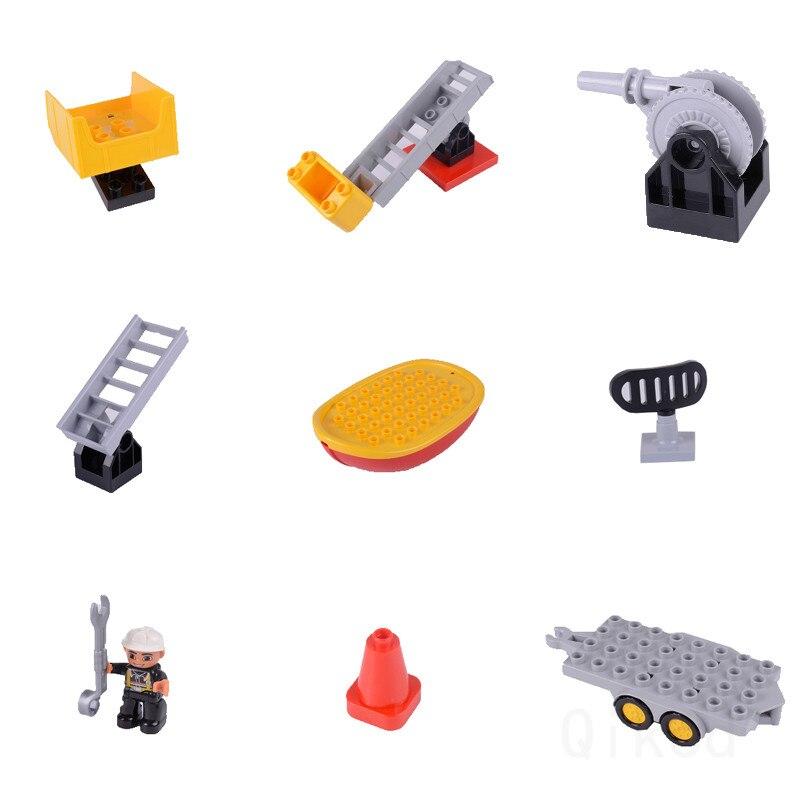 Carro de combate a incêndio diy várias partículas, blocos de construção, dinossauros, figuras, acessórios de animais, compatível com cidade, duploingly