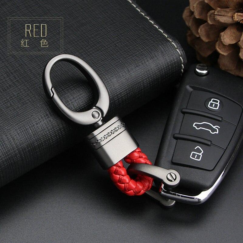 Chaveiro de carro com suporte de chave, de couro, para renault scenic passat fiat 500x mitsubishi outlander vesta lada acessórios