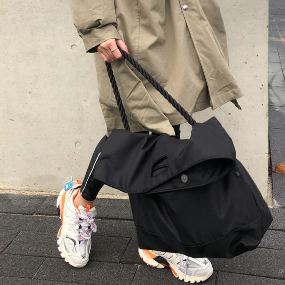 Bolso de mano para mujer, 2020 nailon, bolso de hombro, bolso de diseño, bolso casual de estilo europeo, gran capacidad, bandolera de viaje, bolsa de almacenamiento
