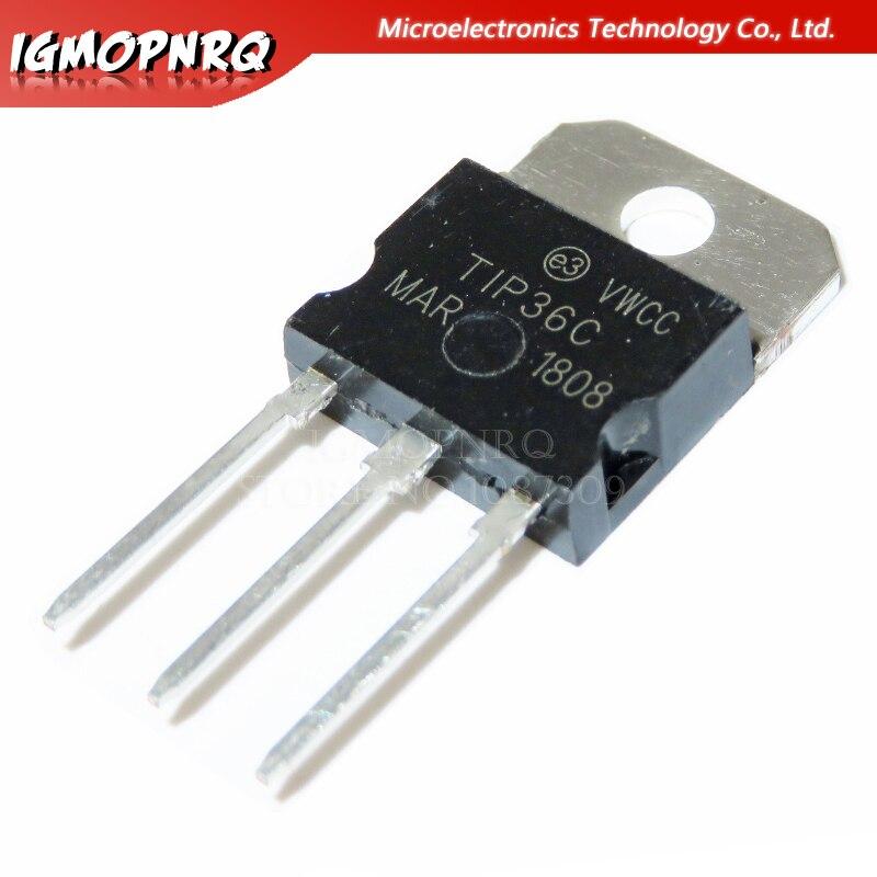 ترانزستورات ثنائية القطب TIP36C TIP36 TO-218, BJT 25A 100V 125W NPN جديد وأصلي 50 قطعة