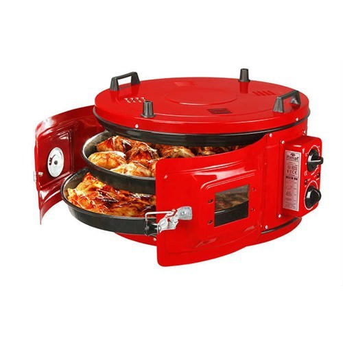 İtimat Round Oven Lux Normal Size Thermostated Dual Tray