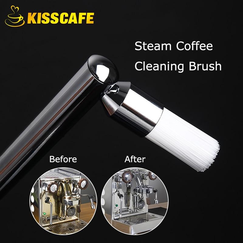 ماكينة إسبريسو القهوة البخار تنظيف فرشاة الجوز الخشب مقبض المنزل منظف الغبار ل لوحات المفاتيح ماكينة القهوة لوازم المطبخ
