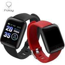 Foloy-reloj inteligente 116plus para hombre y mujer, pulsera digital con pantalla grande, presión arterial, sueño, IP67