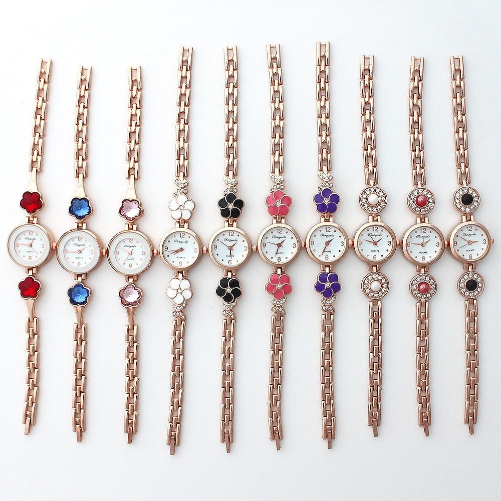 10PCS Wholesale Lot of Colorful Rose Gold Lady Women Watches Quartz Movement Wristwatch Dress Watch Gift JB5T bracelet watches enlarge