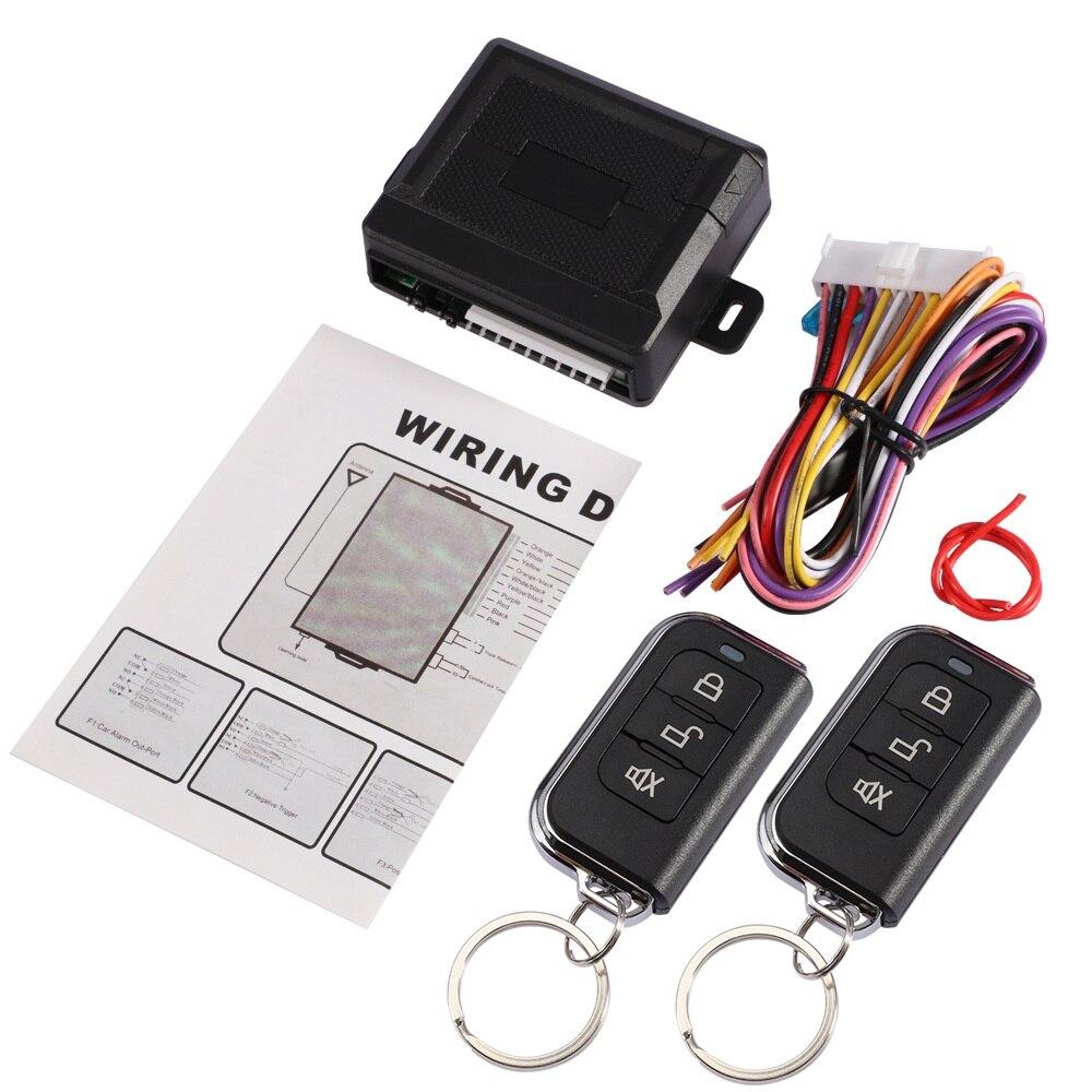 Universal Auto Alarm Systeme Set Auto Remote Zentrale Kit Türschloss Keyless Entry System Zentral Verriegelung mit 2 Fernbedienungen