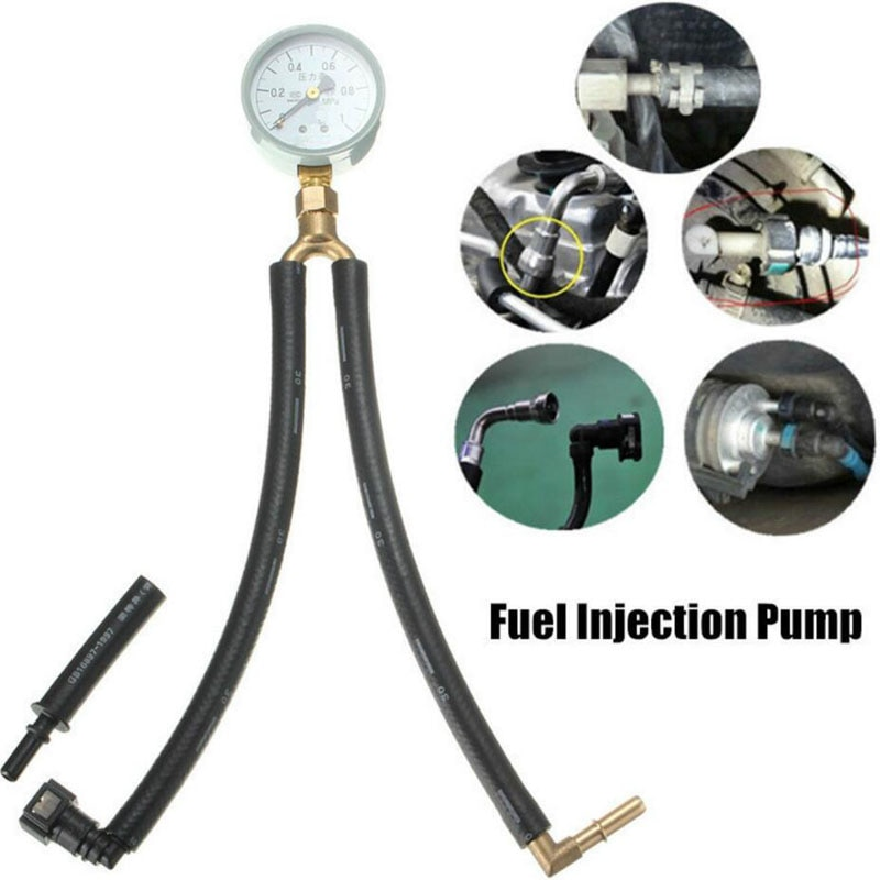automotive tools of 22pcs fuel Automotive Car Fuel Injection Pump Pressure Gauge Tester Gasoline Test Tools for Universal Car