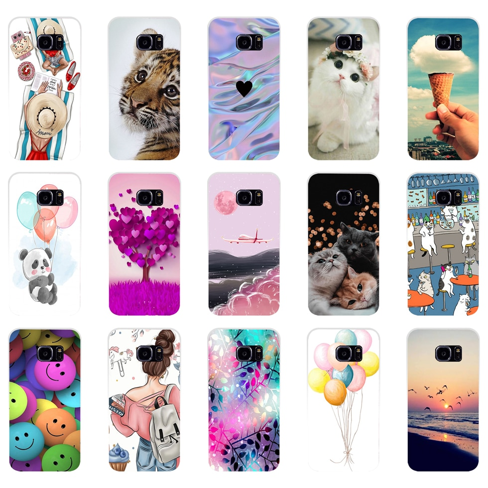 Silicon phone Case For Samsung Galaxy S6 S7 Cases Cover For Samsung S6 S7 edge Phone shell new desig