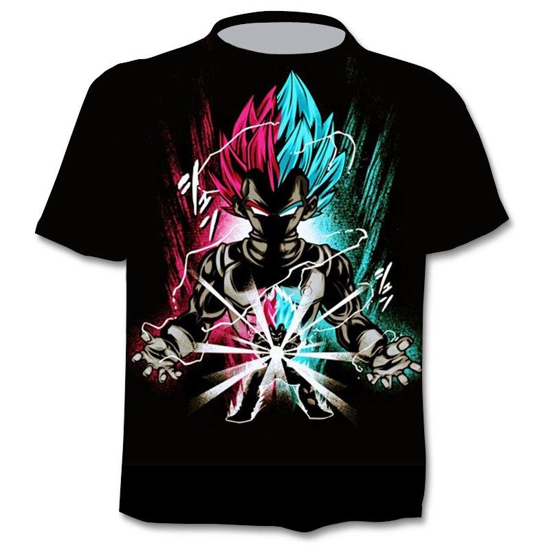 2021 Nieuwe Mannen Anime Harajuku Stijl Tshirt 3D Afdrukken Cartoon Mannen En Vrouwen Zomer T-shirt Straat Hip Hop T shirt