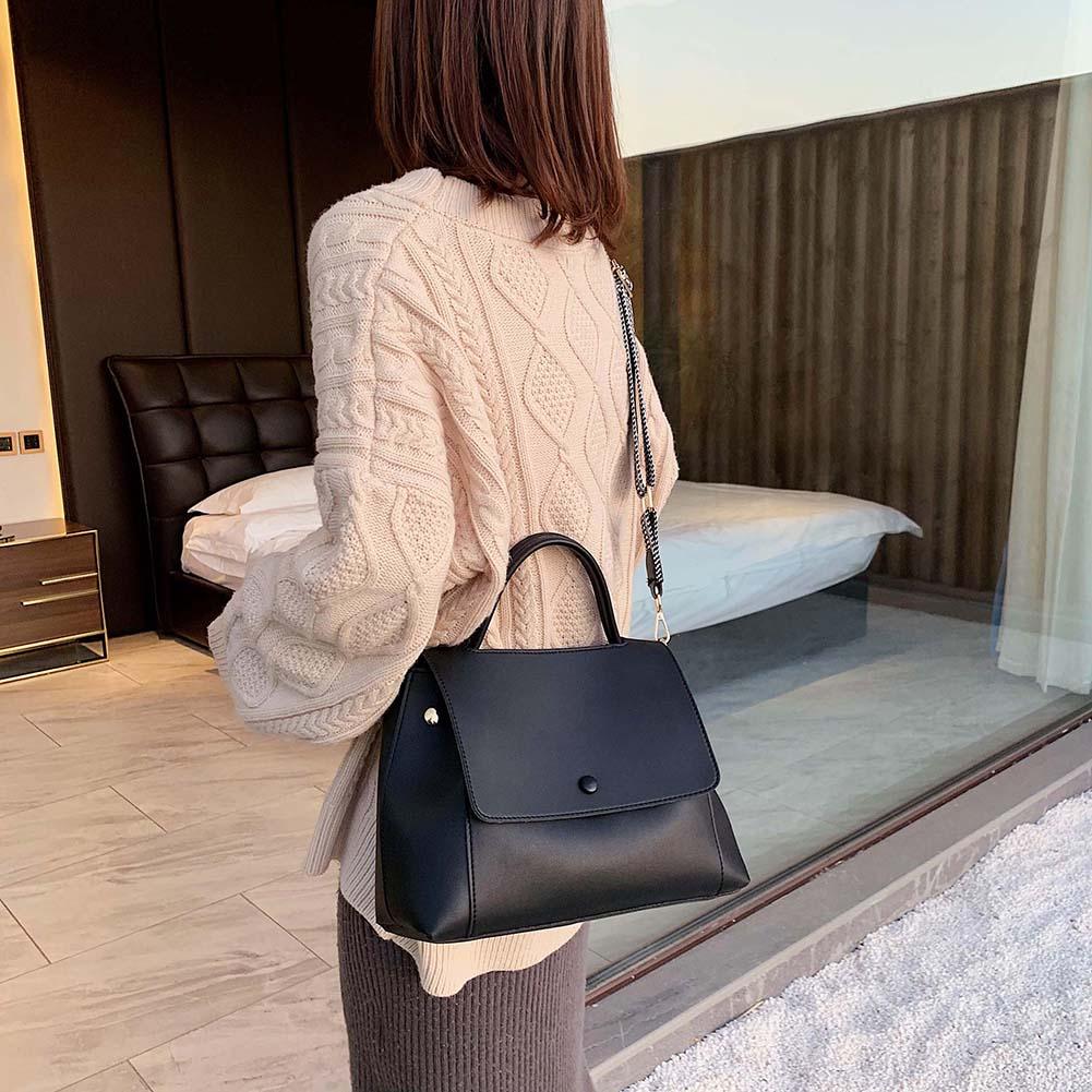 Сумки через плечо из мягкой искусственной кожи для женщин 2021 однотонная фирменная сумка-мессенджер Женская вместительная сумка-тоут женская сумка
