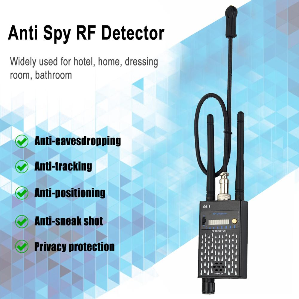 Anti Spy Wireless RF Signal Detector Bug GSM GPS Tracker Camera Eavesdropping Device Professional Signal Finder enlarge