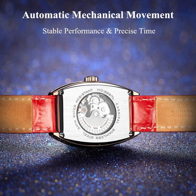 CARNIVAL Top Brand Ladies Fashion Watch Woman Luxury Waterproof Calendar Casual Automatic Mechanical Wristwatch Relogio Feminino enlarge