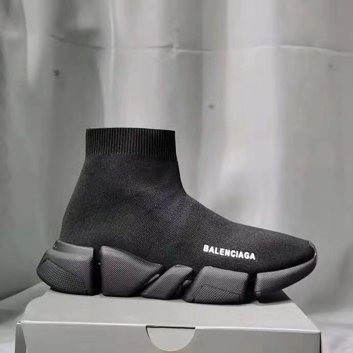 2021 New Original Balenciaga- Speed Trainer Sneakers Men Women Black Red Casual Shoes Fashion mens womens sports Sneakers 35-45