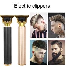 T Bald Head Hair Clipper Mower Rechargeable Trimmer T-Outliner Barber Shaving Machine Vintage Cordle