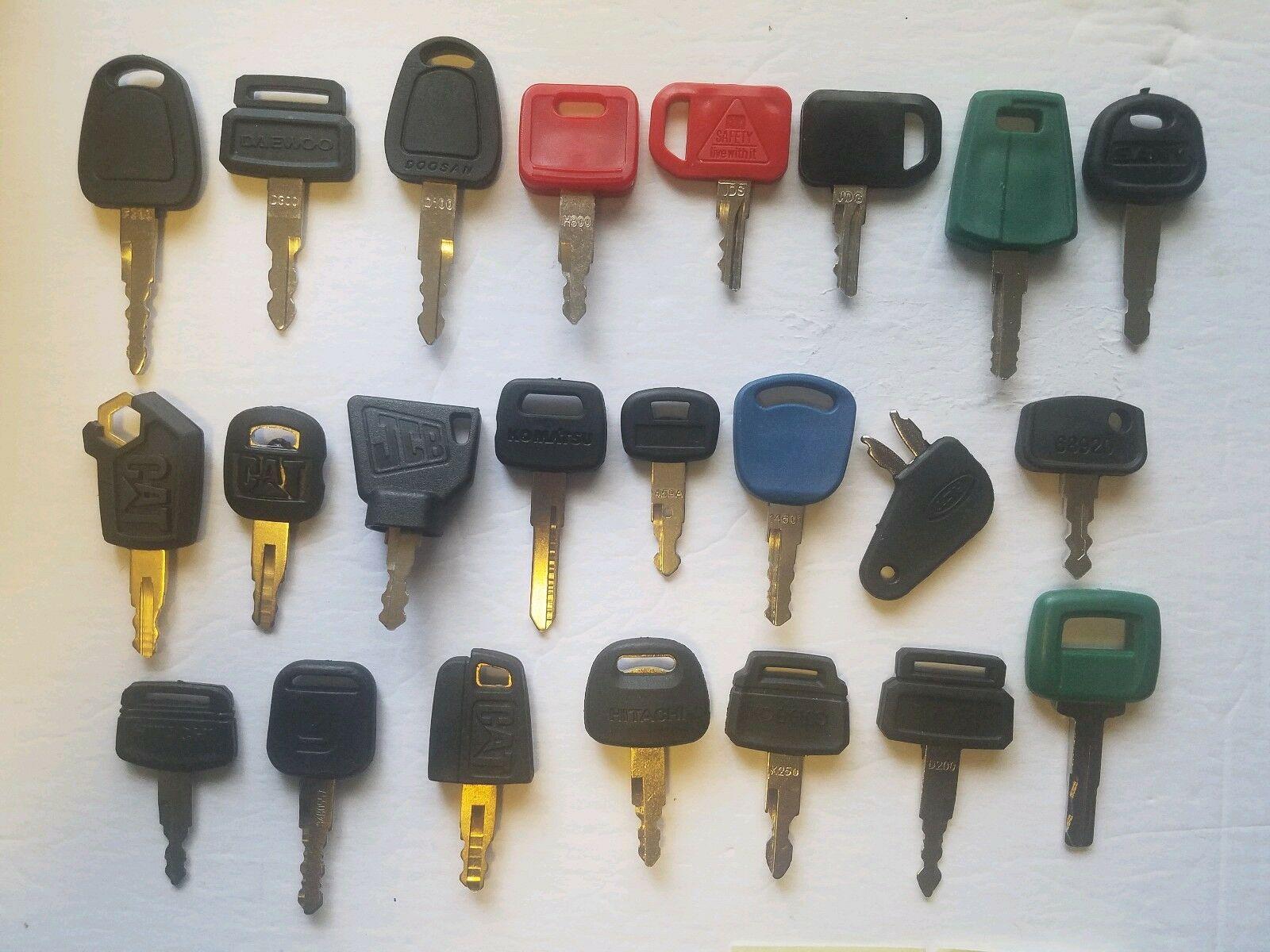 23 Heavy Equipment Construction Ignition Keys Key Set Heavy Equipment Keys
