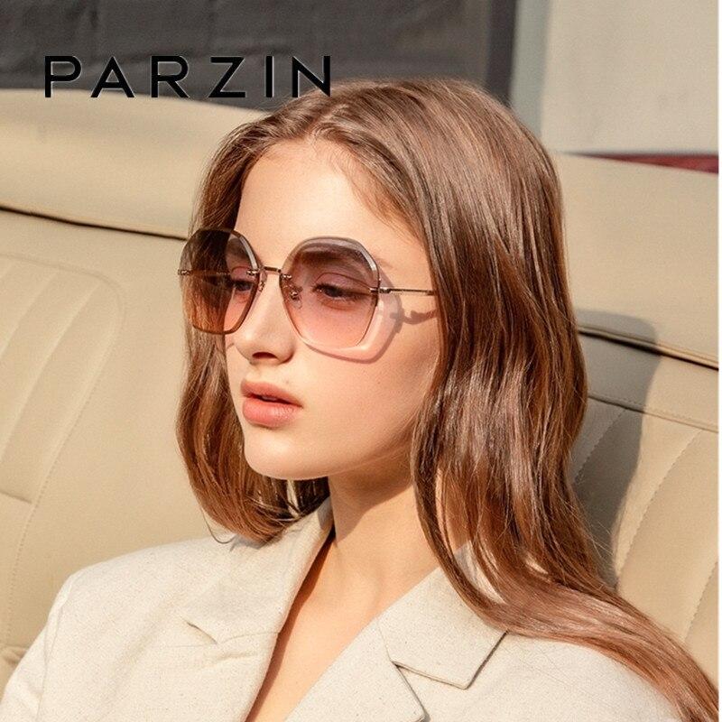 Женские солнцезащитные очки PARZIN, роскошные, с нейлоновыми линзами, вечерние, квадратные, брендовые, дизайнерские, UV400, Gafas De Sol