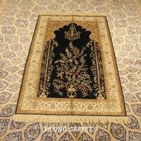 yilong 3x5 handmade silk area tree carpet hand knotted oriental rugs yjh068b