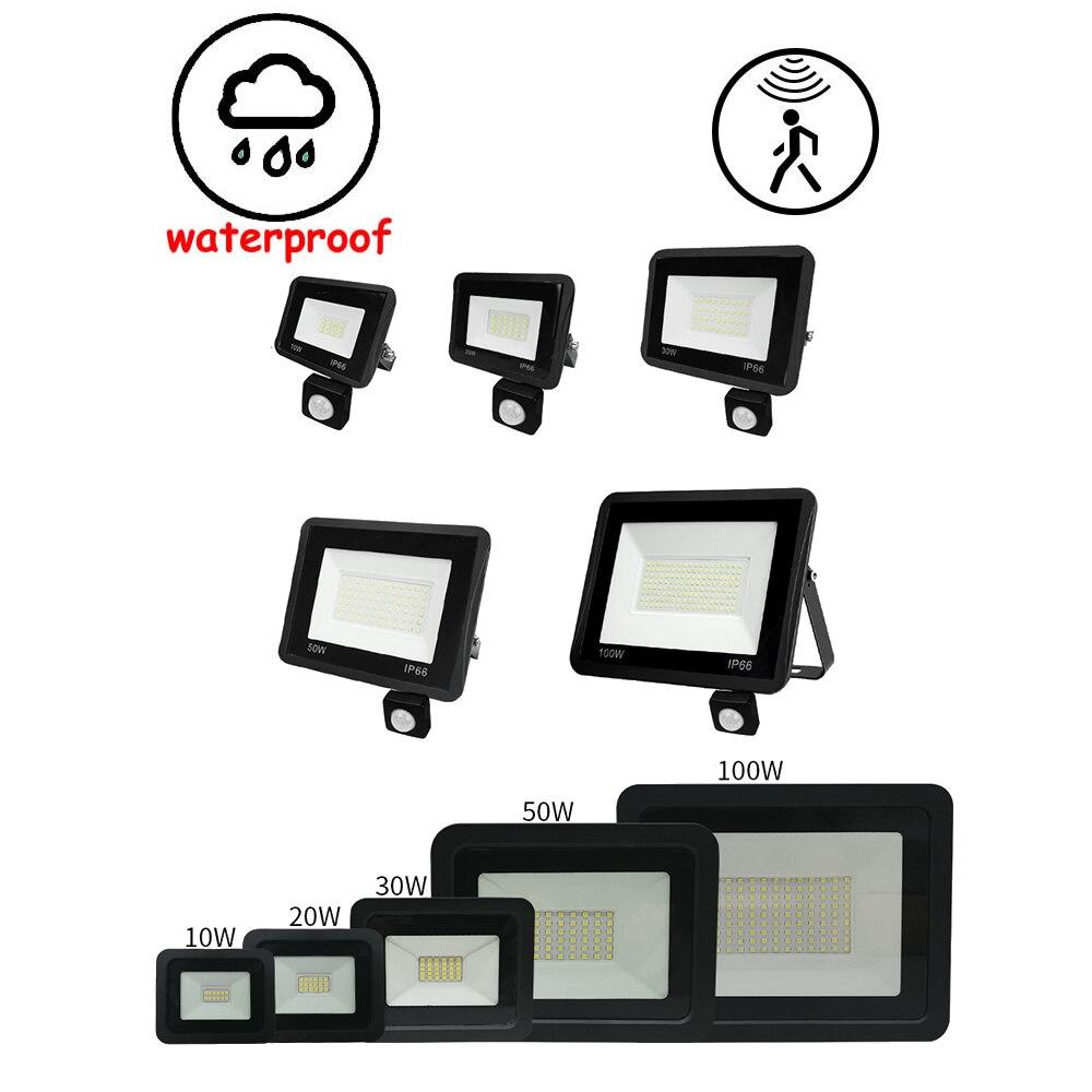 Foco Reflector LED para Exterior, iluminación Exterior opcional, sensor de movimiento pir,...