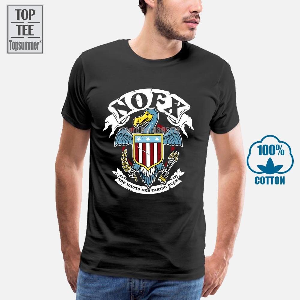 Nueva camiseta negra para hombre de Nofx The illumints Are Taking Over Album, Camiseta de algodón 100% talla S-3Xl, camisetas al por mayor