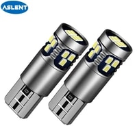 aslent 2pcs t10 w5w 194 168 led bulbs 2016 18smd car accessories clearance lights reading lamp auto light 12v white red yellow