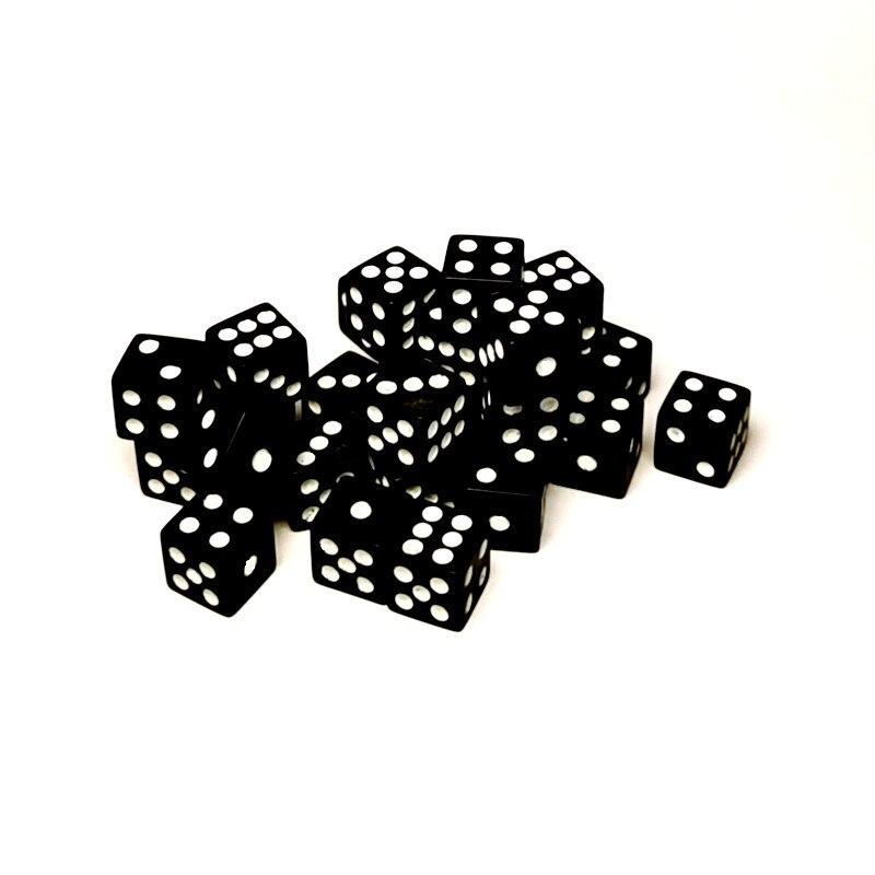 20 шт., 8 мм, мини-кубики из акриловой смолы, пластиковые черные и белые кубики, стандартные шестисторонние кубики для фотографий