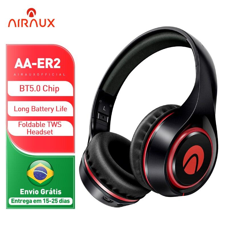 BlitzWolf AIRAUX AA-ER2 بلوتوث-متوافق سماعة الموسيقى سائق ديناميكية سماعة الرأس اللاسلكية التنفس ضوء فائقة الراحة سماعة