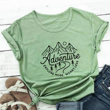 Explore More Worry Less Print 100%Cotton Women Tshirt New Arrvial Summer Casual Short Sleeve Top Adv