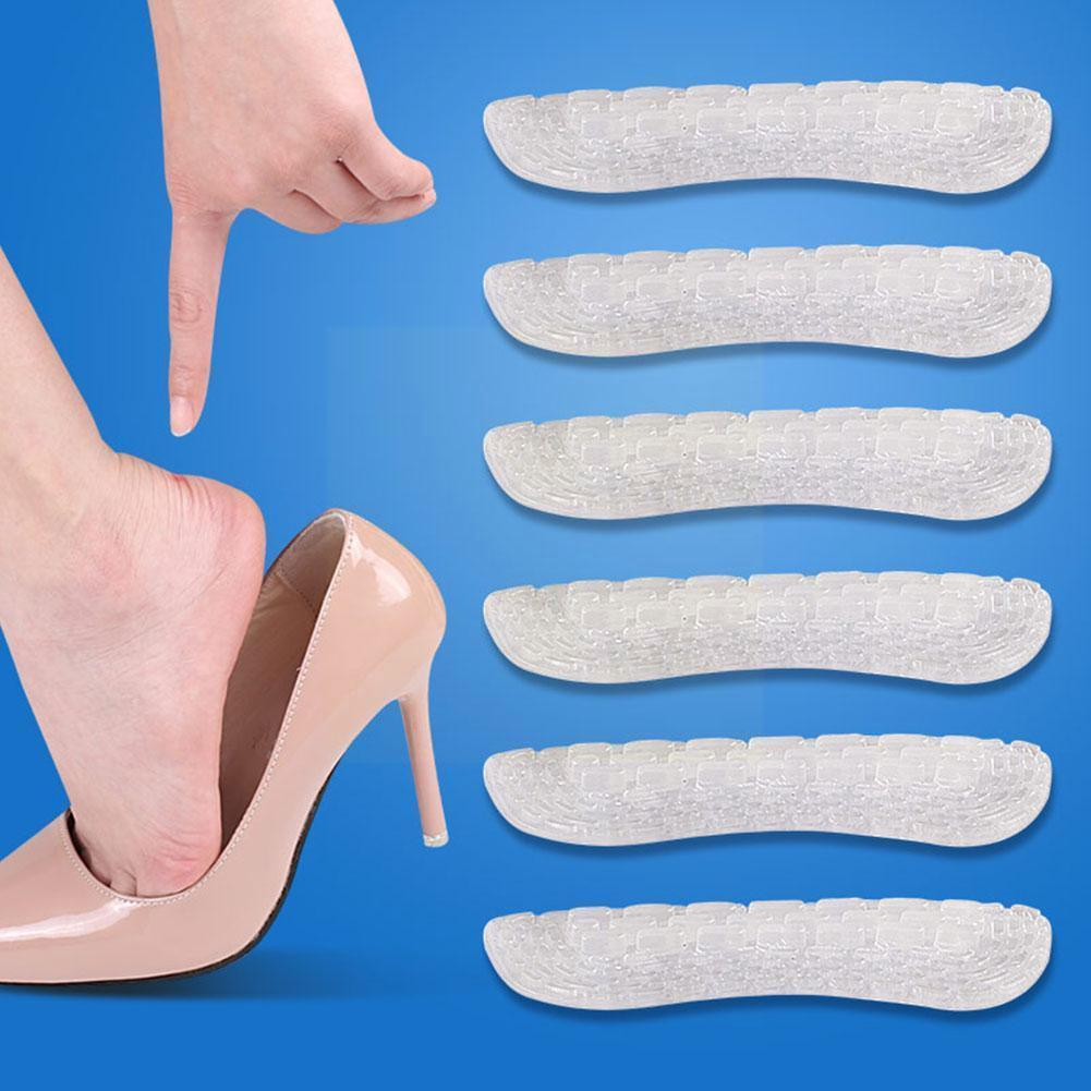 1 Pair Silicone Insoles Heel Stickers Pain Relief Cushion Liner Insole Grips Heel Feet Patch Care An