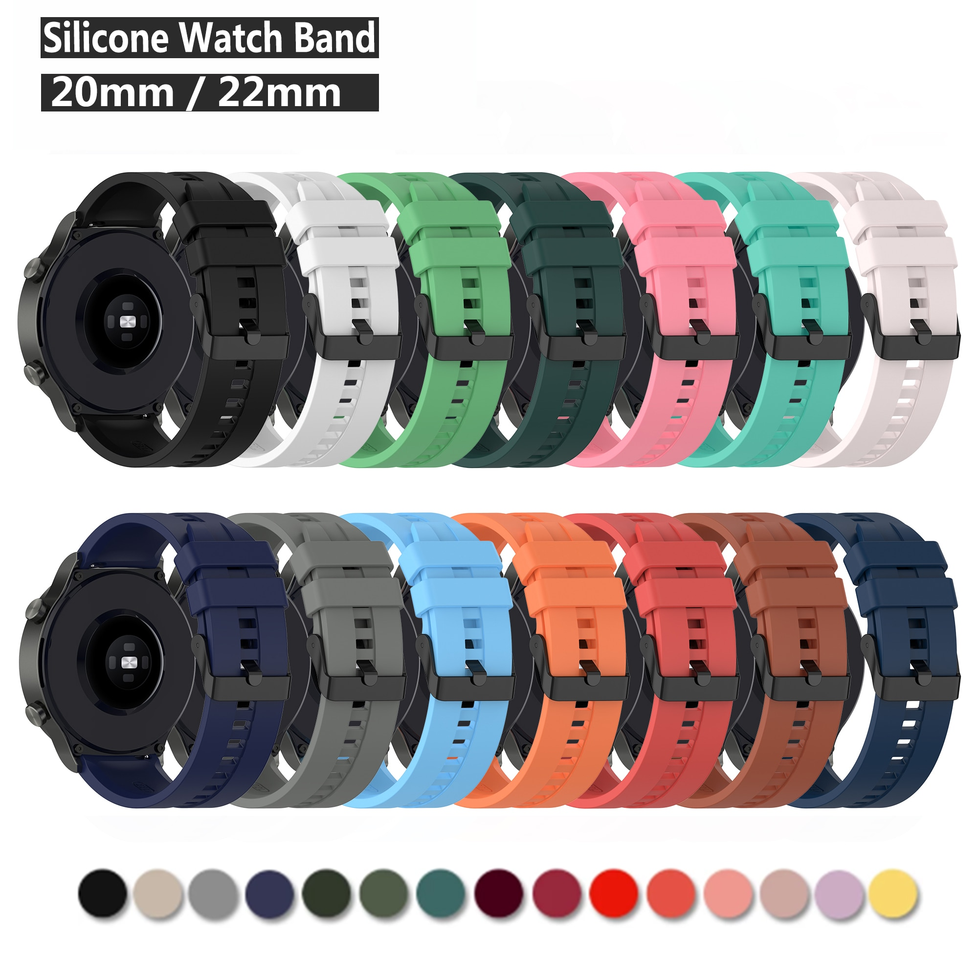 Correa de silicona para Samsung Galaxy Watch Active 2 Active 3 Gear...