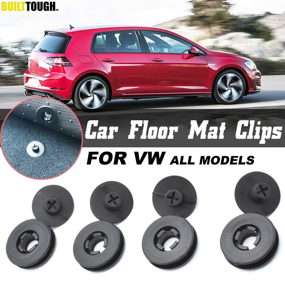 4x For VW Car Floor Mat Clips Retention Holders Grips Carpet Fixing Clamps Buckles Anti Skid Fastener Retainer Resistant
