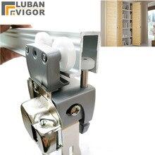 خزانة خزانة قابلة للطي مُعلق أبواب بعجلات بكرة ، أثاث عجلات باب جرار ، مفصلات ، أثاث إكسسوارات الأجزاء الداخلية للكمبيوتر
