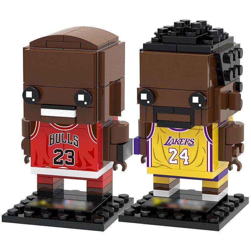 Colección de jugadores de baloncesto, figuras de super Star, bryant BrickHeadz, Juguetes de bloques de construcción Compatible con Brickheadz para chico