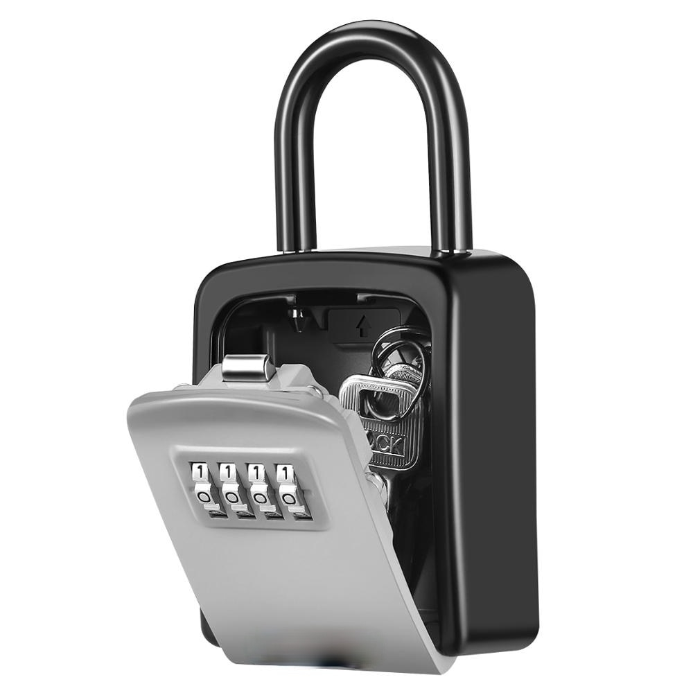 Password Key Box Outdoor Key Safe Lock Box Decoration Key Code Box Key Storage Lock Box Wall Mounted Password Box