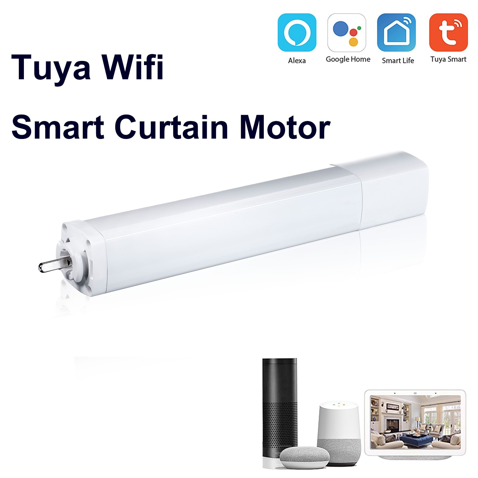 wl irc wifi universal remote control smart remote house control voice smart remote intelligent control Tuya Wifi smart Intelligent Curtain Motor Ultra Quiet Electric Wireless Remote Control Voice Control Tools for Alexa Google Home