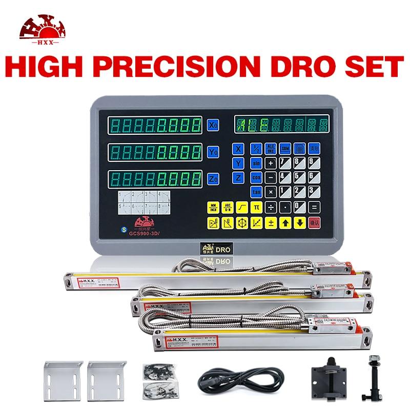 good quality 3 axis digital readout and 3pcs 5u 50-1000mm linear scale measuring sensor/encoder