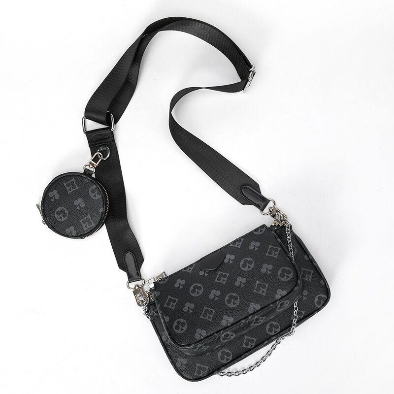 famous brand mahjong bag crossbody shoulder bag 3 in 1 luxury handbag PU leather tote bags fashion baguette bag for women 2020