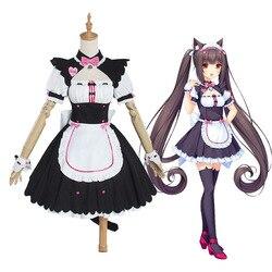 Jogo nekopara chocolate e baunilha cosplay custume maid outfit