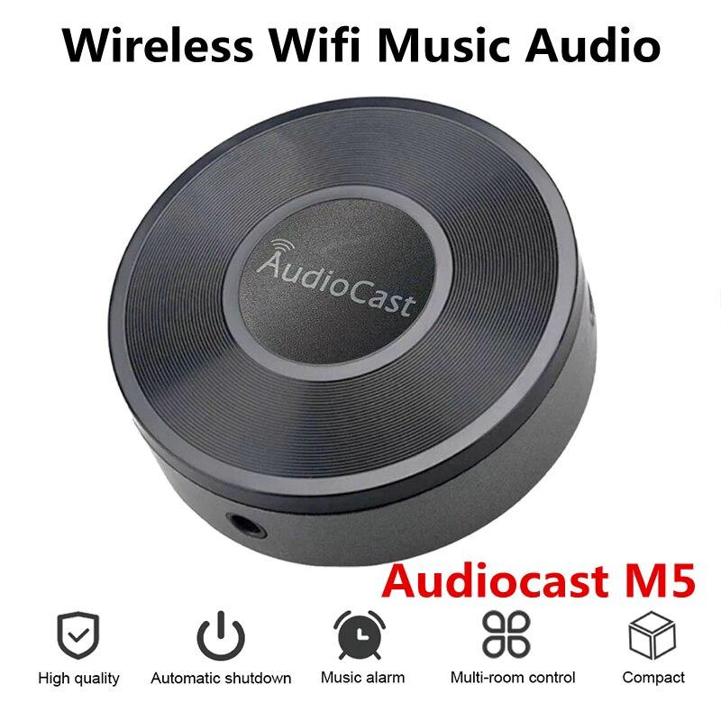 Audio ocast M5 ل DLNA Airplay محول لاسلكي واي فاي الموسيقى الصوت غاسل استقبال الصوت سماعة موسيقية ل Spotify غرفة تيارات