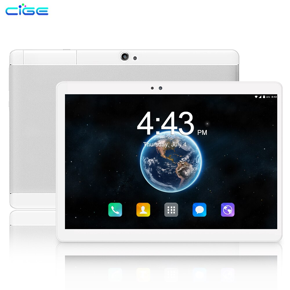 New 10 Inch Tablet PC Android 9.0 Octa Core 6GB+64GB Tablets WIFI Google Play 1280x800 IPS Screen Dual SIM Cards