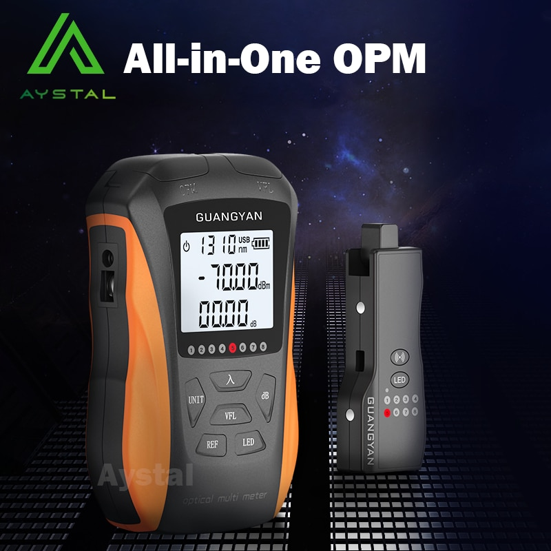 New 6-in-1 Optical Power Meter High Precision Rechargeable G8 Visual Fault Locator Network Cable Test Line Finder OPM