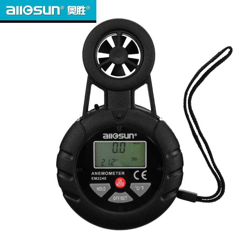 The Ossam wind speed meter outdoor multi-function portable small outdoor wind number can be fixed tester. недорого