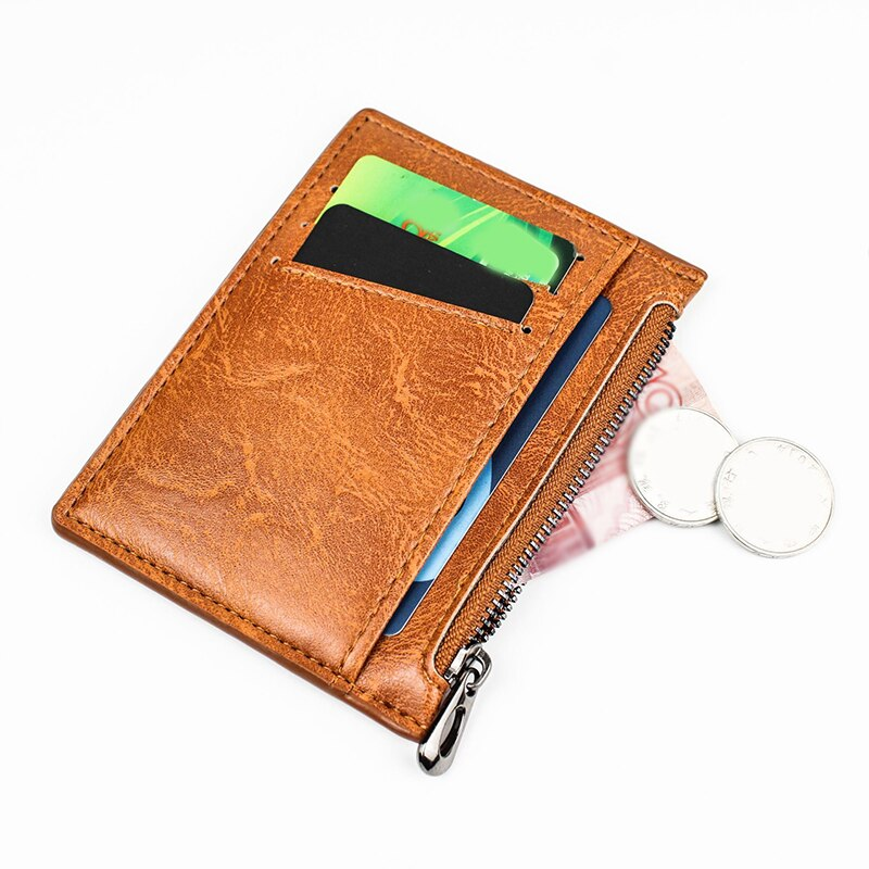 Classic Men Wallet Mini PU Leather Business Card Holder Case Women Bank Credit ID Card Passport Covers Small Purse Case Bag
