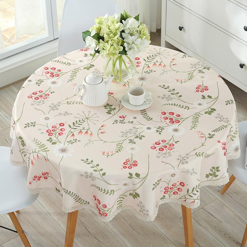 Nappe européenne coton lin à manger décoré Style méditerranéen peut laver la nappe à lhuile et à leau