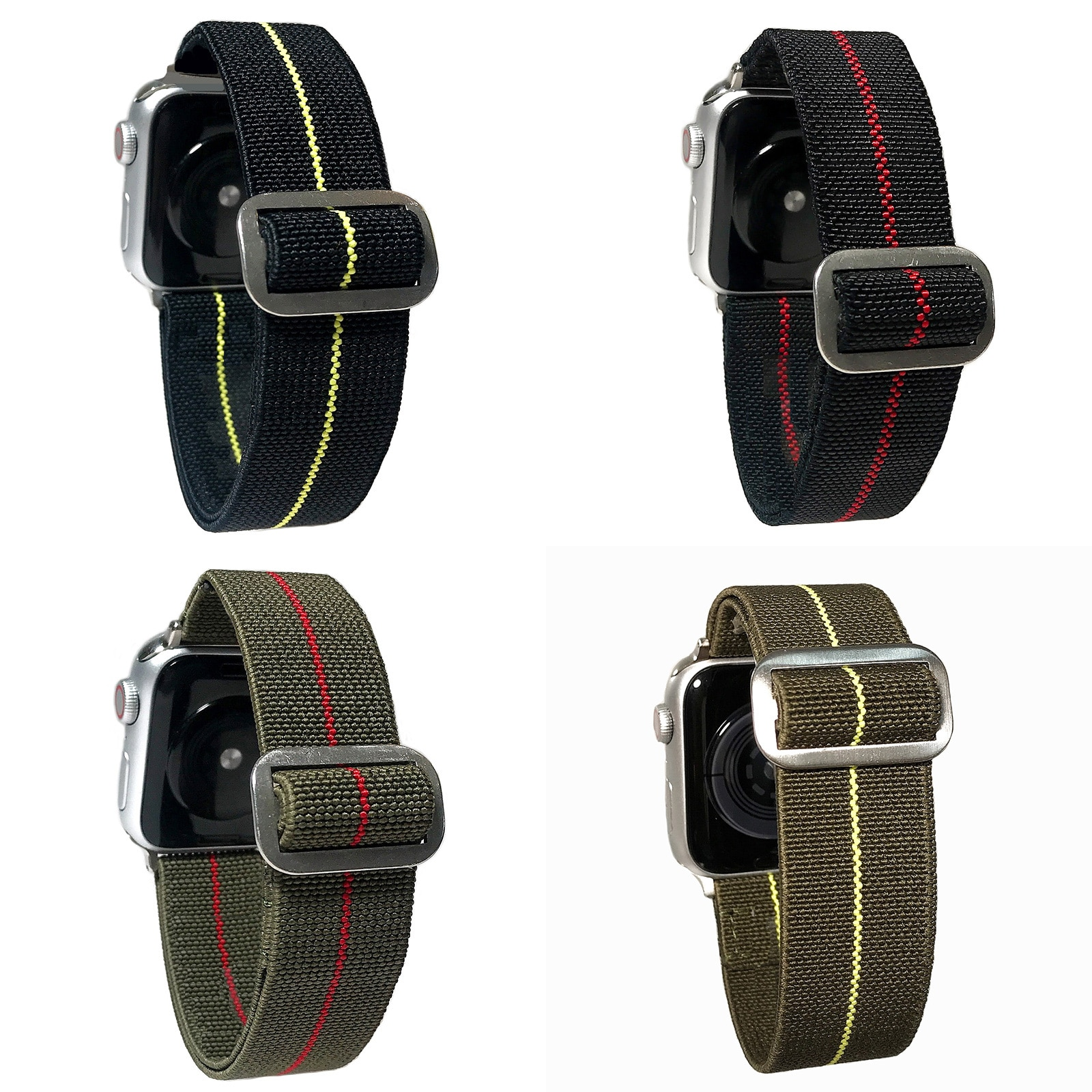 nylon braided solo loop for apple watch band 6 5 3 bands 44mm 40mm 38mm 42mm elastic strap bracelet for iwatch series 6 5 4 2 1 2020 Braided Solo Loop Nylon fabric Strap For Apple Watch band 44mm 40mm 38mm 42mm Elastic Bracelet for iWatch Series 6 SE 5 4 3
