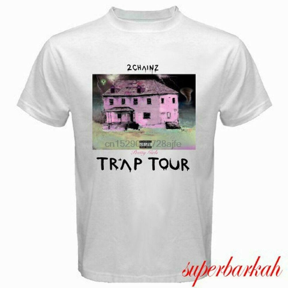 2 CHAINZ TRAP ALBUM TOUR RAP HIP HOP música blanca tamaño S-3XL Estados Unidos tamaño camiseta EN1