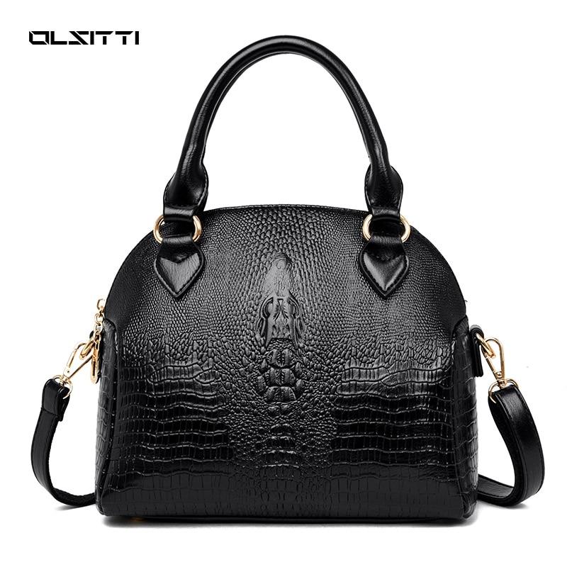 OLSITTI Fashion Casual Crocodile Pattern Pu Leather Shoulder Bags for Women 2021 High Quality Crossb